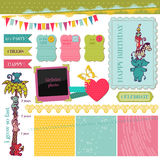 Scrapbook Design Elements - Birthday Baby Set Stock Photos