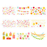 Scrapbook Design Elements Birthday Party Set Royalty Free Stock Image