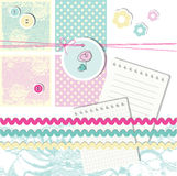 Scrapbook design elements Stock Photography