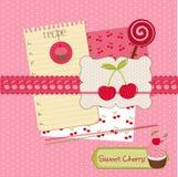 Scrapbook design elements - desserts Royalty Free Stock Photography