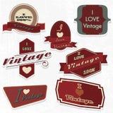 Scrapbook design elements i love vintage set Royalty Free Stock Image