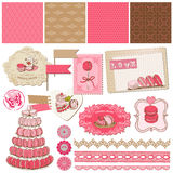 Scrapbook Design Elements - Macaroons and Dessert  Royalty Free Stock Image