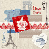 Scrapbook Design Elements - Paris Vintage Set Stock Image