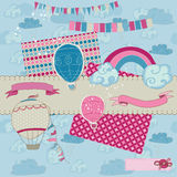 Scrapbook Design Elements - Party, Balloons Stock Images