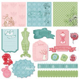 Scrapbook design Elements - Retro Fashion Set Royalty Free Stock Photo