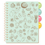 Scrapbook Design Elements -Set of Various Fruits Royalty Free Stock Image