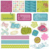 Scrapbook Design Elements - Sewing Kit Royalty Free Stock Photo