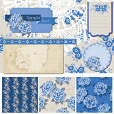 Vintage Blue Flowers Royalty Free Stock Photography