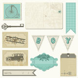 Scrapbook design elements - Vintage Boy Set Royalty Free Stock Images