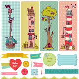 Scrapbook Design Elements - Vintage Child Set Royalty Free Stock Image