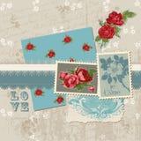 Scrapbook Design Elements - Vintage Flowers Stock Image