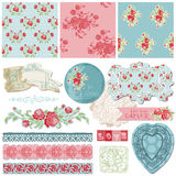 Scrapbook Design Elements - Vintage Flowers Royalty Free Stock Photography