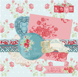 Scrapbook Design Elements - Vintage Flowers Stock Photo