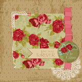 Vintage Flowers Scrapbook Page Stock Image