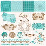 Scrapbook Design Elements - Vintage Love Set Royalty Free Stock Photos