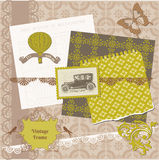 Scrapbook Design Elements - Vintage Time Set Stock Photos