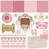 Scrapbook design elements - Vintage Wedding Set royalty free illustration
