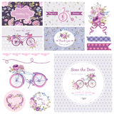 Scrapbook Design Elements for Wedding Party Royalty Free Stock Photography