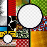 Scrapbook design graphic Royalty Free Stock Images