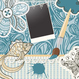 scrapbook design pattern Royalty Free Stock Photo