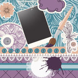 Scrapbook design pattern Royalty Free Stock Images