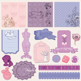 Scrapbook desin Elements - Retro Fashion Set Stock Images