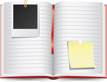 Scrapbook diary with empty photo frames Stock Photo