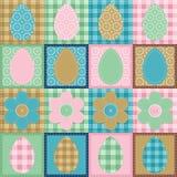 Scrapbook dos retalhos do papel de parede de Easter Fotografia de Stock