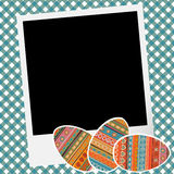 Scrapbook with eggs Royalty Free Stock Photos