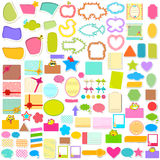 Scrapbook element jumbo collection Royalty Free Stock Photos