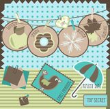 Scrapbook elements. Cute scrapbook elements,  illustration Royalty Free Stock Image