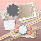 Scrapbook elements Stock Image