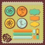 Scrapbook elements. A set of decorative scrapbook elements Royalty Free Stock Photo