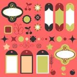 Scrapbook elements. A set of scrapbook elements stock illustration