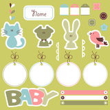 Scrapbook elements for baby Royalty Free Stock Photography