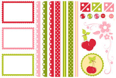 Scrapbook elements. Decors Stock Images