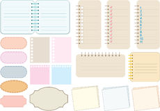 Scrapbook elements. Paper and notebooks Royalty Free Stock Photos