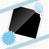 Scrapbook elements with photos frame vector Stock Photos