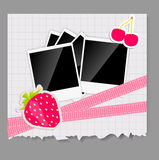Scrapbook elements with photos frame vector Royalty Free Stock Images