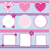 Scrapbook elements pink - set 2 Royalty Free Stock Image