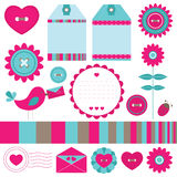 Scrapbook elements set stock illustration