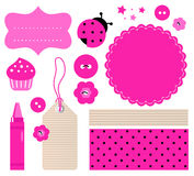 Scrapbook elements set Royalty Free Stock Photos