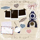 Scrapbook elements set. Stock Image