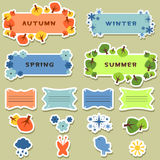 Scrapbook elements stickers four seasons Royalty Free Stock Photos