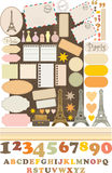 Scrapbook elements with Tour d\\\'Eiffel. Royalty Free Stock Photography
