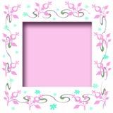 Scrapbook flower frame Stock Photos