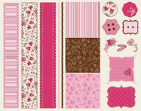 Scrapbook Flower Set Stock Images