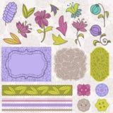 Scrapbook Flower Set Stock Images