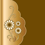 Scrapbook with flowers Royalty Free Stock Images