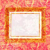 Scrapbook flowers frame background Royalty Free Stock Photography